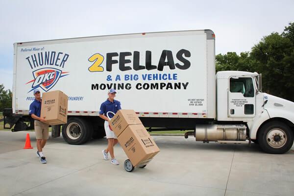 2 fellas and a big vehicle moving company