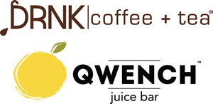 DRNK coffee + tea and QWENCH juice bar