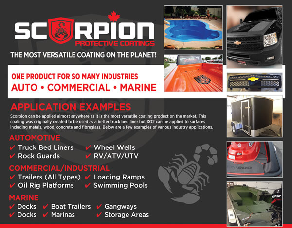 Scorpion Coatings Canada Opportunity Costs & Fees for 2019
