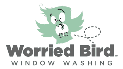 Worried Bird Window Washing